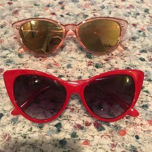 Sale! 2x1 cat eye sunglasses